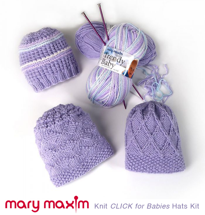 5a9fc1ac588 MARY MAXIM CLICK FOR BABIES KNIT   CROCHET KITS NOW AVAILABLE •