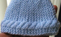 Baby Hat – pixie hat to knit – free knitting pattern from Crystal