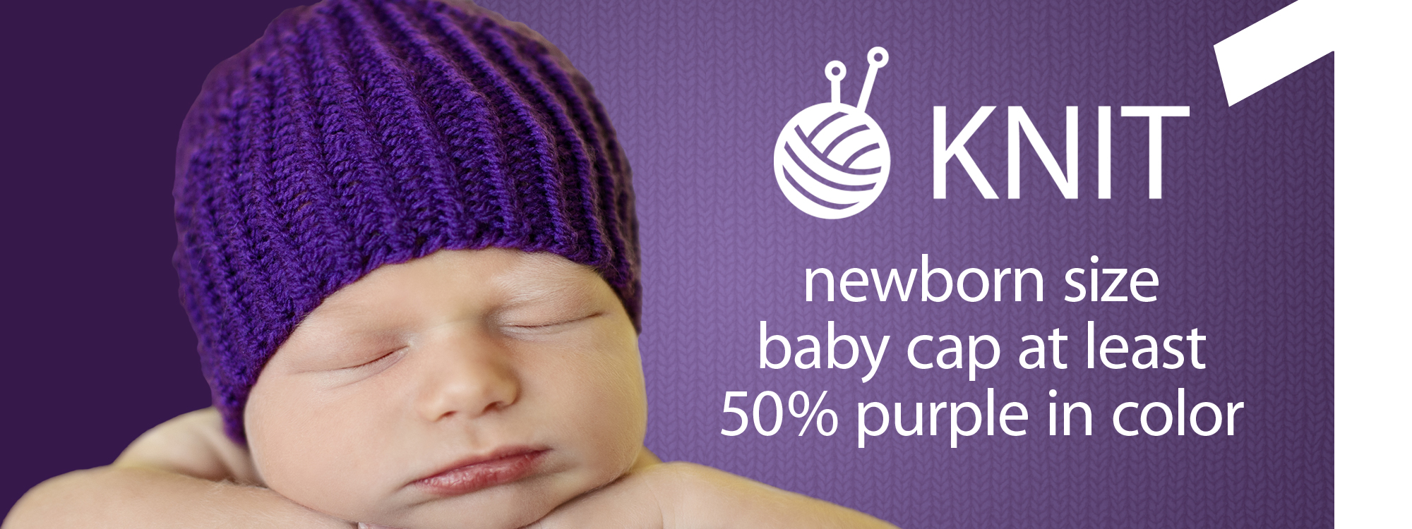 Spotlight Free Knitting Patterns Babies : Spreading Awareness of Infant Abuse with Purple Caps : CLICKforBabies.org
